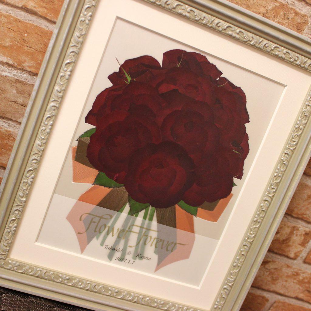 押し花赤い薔薇