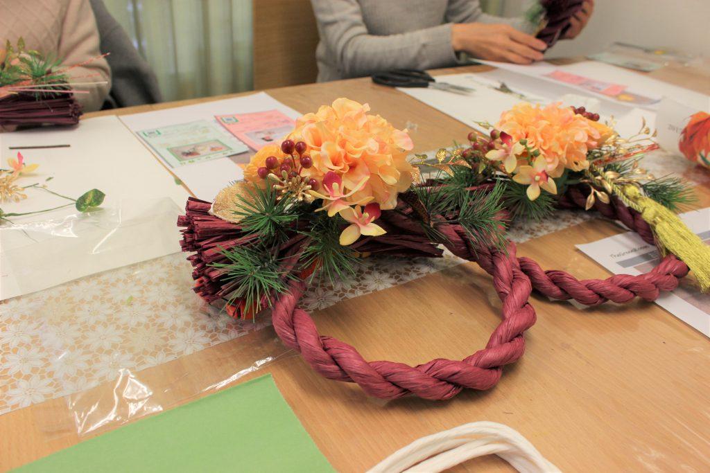 モダンなしめ縄作り お正月飾り アトリエ由花