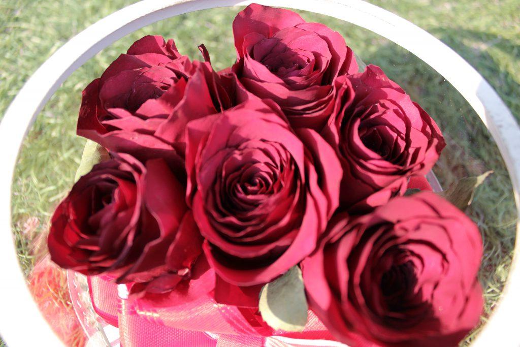 赤いバラドライフラワー