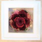 赤いバラの花束保存