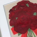 赤いバラ押し花保存