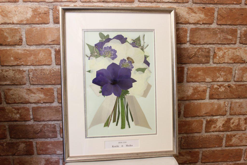 白と紫のアネモネ押し花