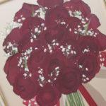 赤いバラ押し花