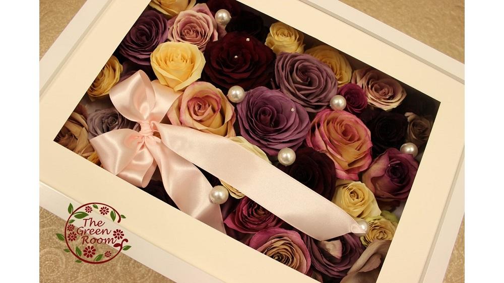RCホワイトボックス  144本のバラの花束を入るだけ立体保存