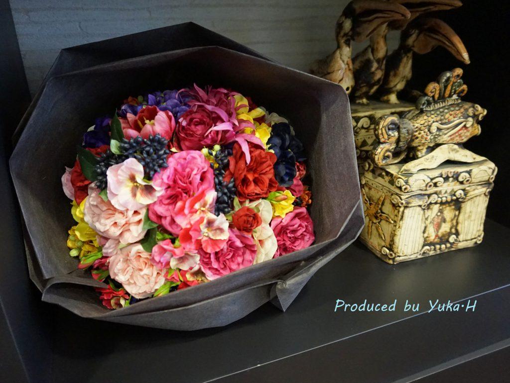 造花花束作り体験