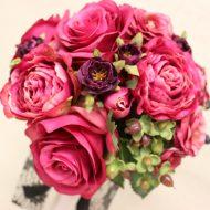 美しい造花のブーケは生花と見分けがつかない高品質な仕上がりです|ラウンドブーケアイキャッチ用画像
