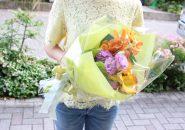 花束の注文定年退職の男性へ会社の方から送別会で贈られる花束