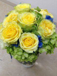 黄色のバラが印象的なブーケ永久保存加工しました|持ち込み時