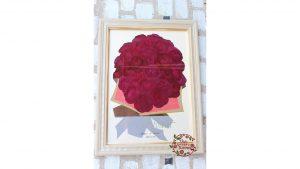 モダンウッドフレーム 4日前の赤バラ108本感動のポロポーズの花束が押し花フレームで見事に蘇りました 完成全体図