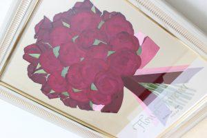 モダンウッド|プロポーズの赤バラ花束が押し花で永遠に残せます|完成あっぷ
