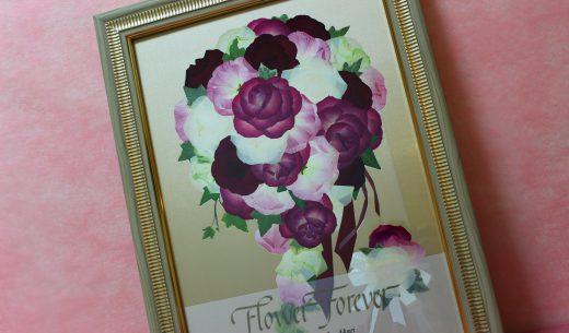 モダンウッド|プロポーズ赤バラ花束を花材追加でブーケ風にアレンジ|完成