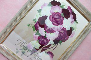 モダンウッド プロポーズ赤バラ花束を花材追加でブーケ風にアレンジ 完成アップ
