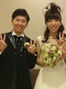 ガラスケーキコラム ニュアンスカラーブーケをガラス容器に永久保存加工 お客様結婚式の時の写真