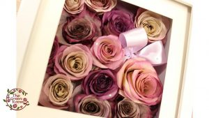 SCホワイトボックス  50本のバラの花束を入るだけ敷き詰め立体保存