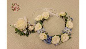 美しい造花のブーケは生花と見分けがつかない高品質な仕上がりです|花冠、ブートニア