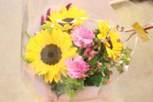 フラワーアレンジメント花束の注文|ひまわり花束アップ