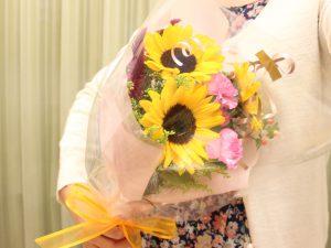 フラワーアレンジメント花束の注文|ひまわり花束