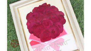 赤バラ108本☆プロポーズの花束を押し花と立体2つのフレームご注文が増えています☆|押し花アップ