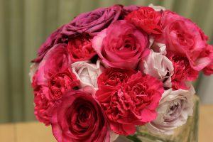 ブーケから世界に一つの押し花ストラップをつくります |ピンクのウエディングブーケ持ち込み時
