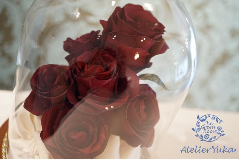 レジーナガラスドーム プロポーズの花束をガラスト―ムに 完成全体