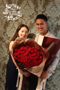 レジーナガラスドーム|プロポーズの花束をガラスト―ムに|持ち込み時
