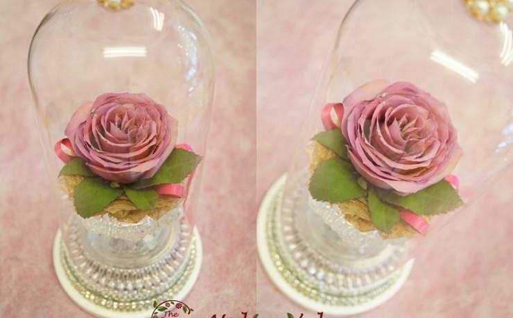 トゥルードーム|大切な一輪の薔薇を美しいまま永久保存|完成