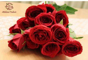 ハート型に再現された思い出の薔薇は永遠に咲き続けます 持ち込み時