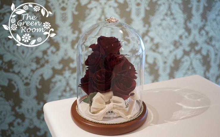 レジーナガラスドーム|プロポーズの花束をガラスト―ムに|完成全体