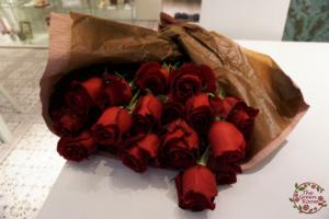 ボタニカルコットン 思い出のバラの花束を押し花に 持ち込み時赤薔薇