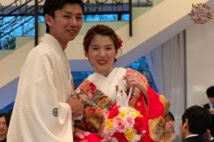 ボタニカルコットン 思い出のバラの花束を押し花に 結婚式写真