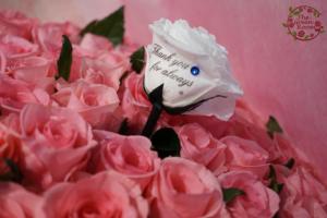 結婚式サプライズメッセージも一緒に永久保存一輪プリザ