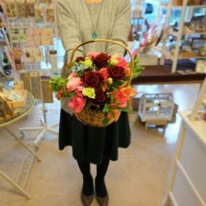 5000円生花アレンジメント1