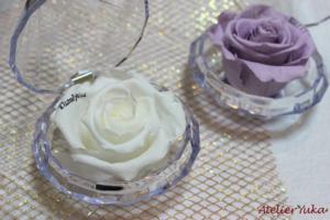 贈り物ギフトに!ハンドメイド雑貨商品紹介 プロポーズに贈る♡ダイヤモンドプリザ2色